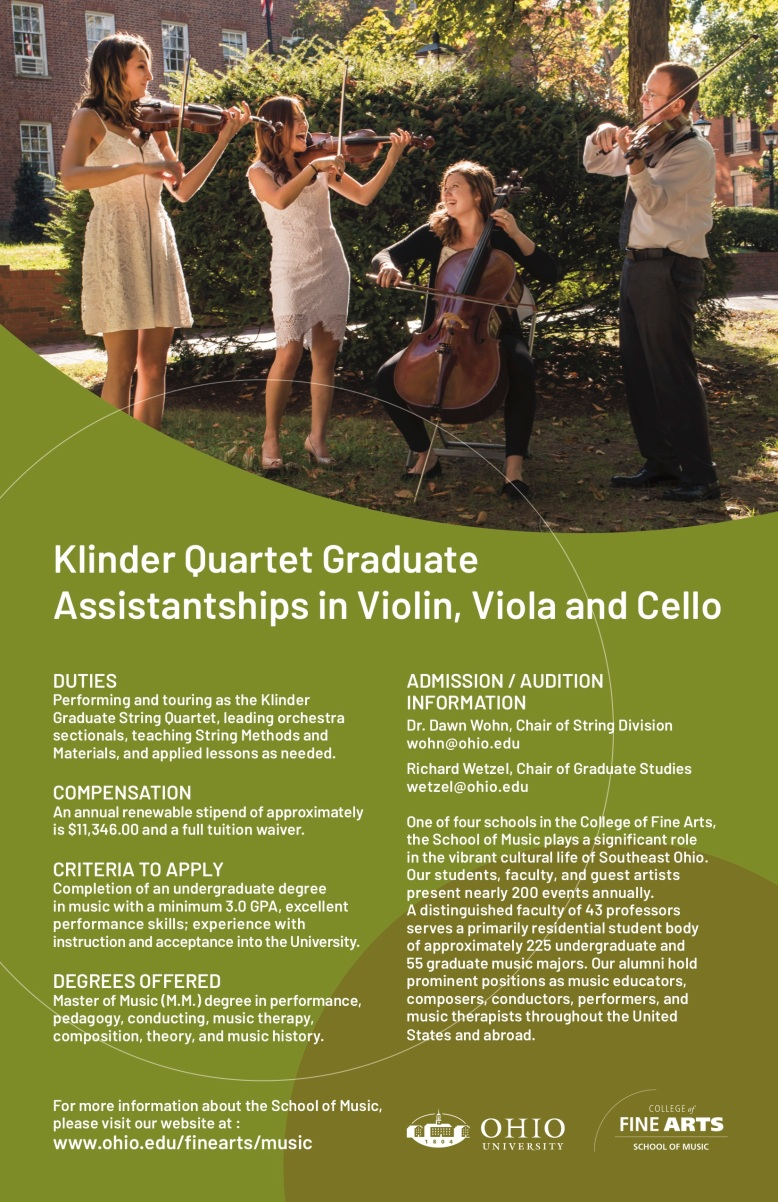 Graduate String Quartet Flyer
